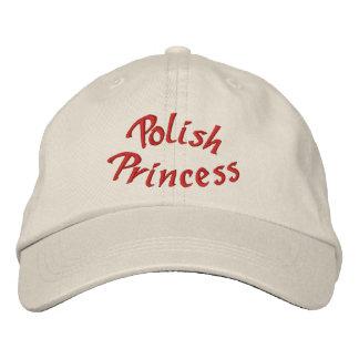 Polish Princess Cute Embroidered Baseball Hat