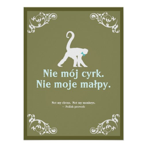 Polish Quotes: Polish Proverb Poster