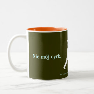 Polish Proverb Two-Tone Coffee Mug