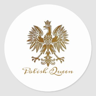 Polish Queen with Gold Eagle Sticker