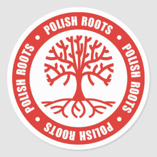 Polish Roots Classic Round Sticker