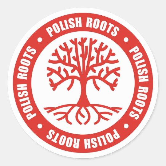 Polish Roots Classic Round Sticker