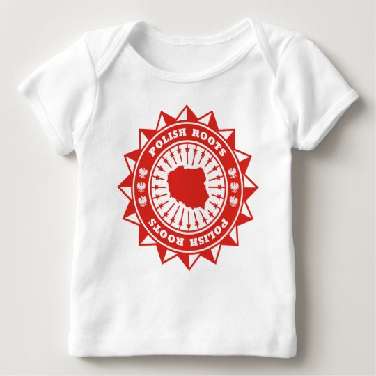 Polish Roots Map Baby T-Shirt