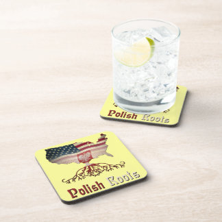 Polish Roots with American Map Cork Coasters