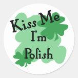 Polish Round Sticker