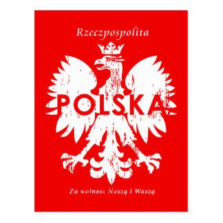 Polish Rzeczpospolita Polska Eagle Symbol Postcard