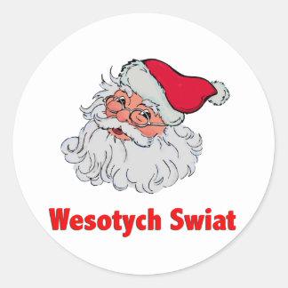 Polish Santa Claus #2 Classic Round Sticker