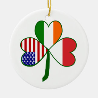Polish Shamrock Ceramic Ornament