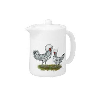 Polish Splash Chickens Teapot