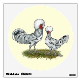Polish Splash Chickens Room Decal