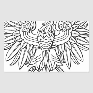 Polish symbol rectangular sticker