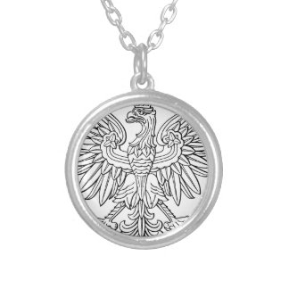 Polish symbol silver plated necklace