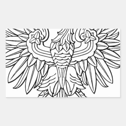 Polish symbol rectangle sticker