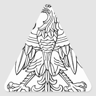 Polish symbol triangle sticker