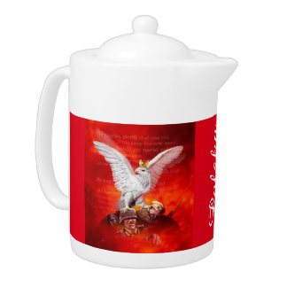 POLISH TEA POT WITH POLISH EAGLE....POLSKI ORZEL