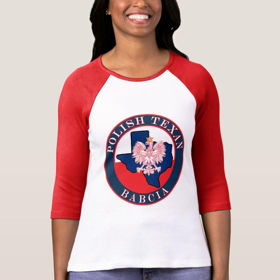 Polish Texan Babcia Round T-Shirt - Best Selling Long-Sleeve Street Fashion Shirt Designs