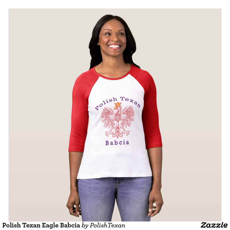 Polish Texan Eagle Babcia T-Shirt - Best Selling Long-Sleeve Street Fashion Shirt Designs