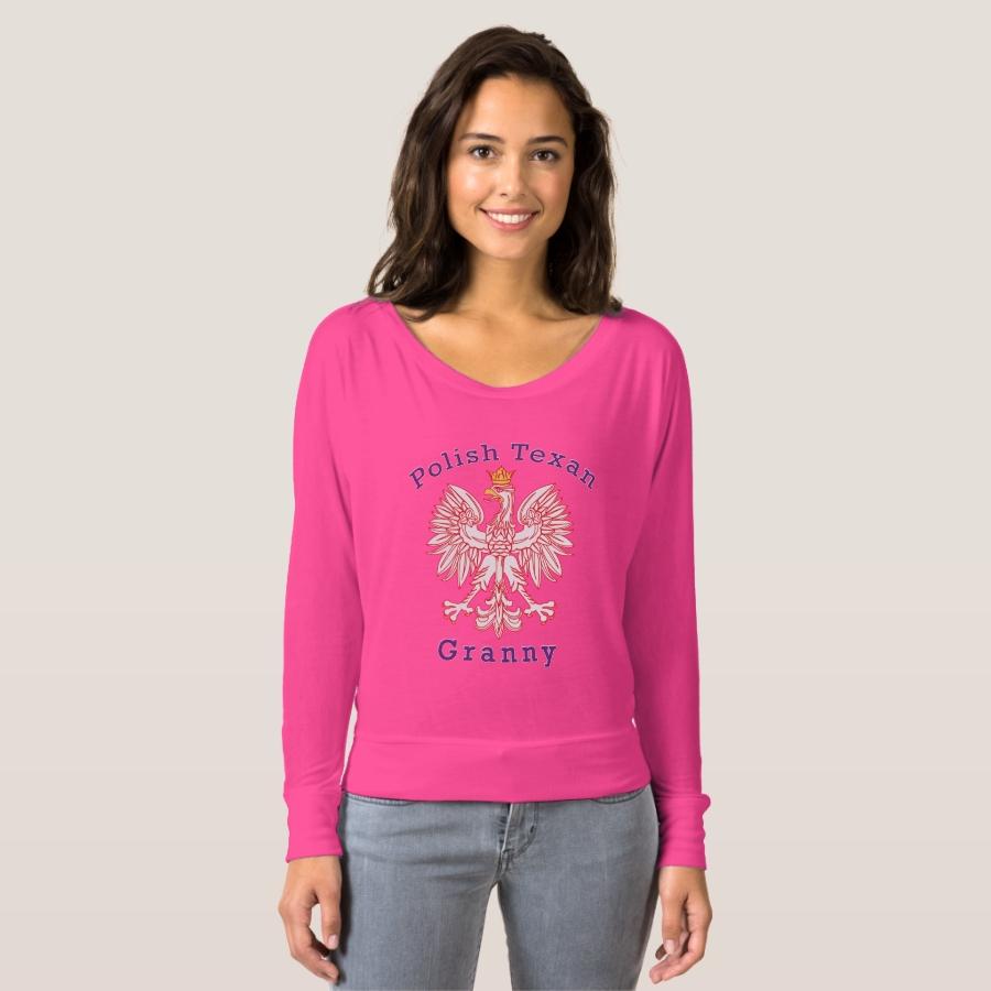 Polish Texan Eagle Granny T-shirt - Best Selling Long-Sleeve Street Fashion Shirt Designs