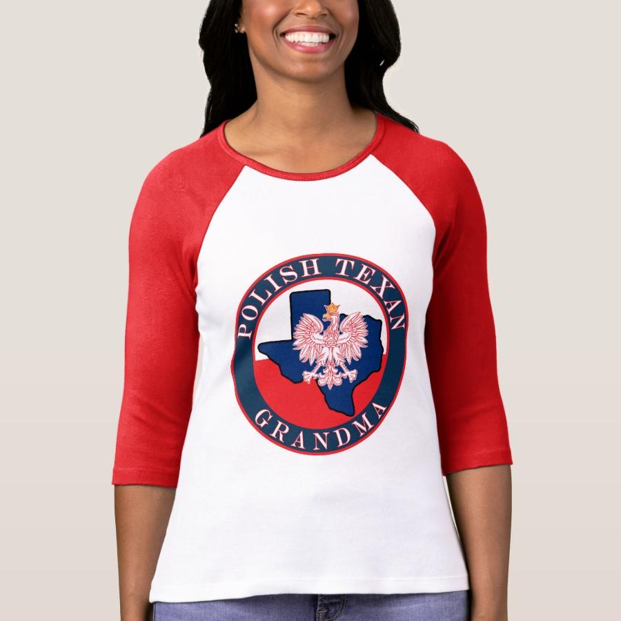 Polish Texan Grandma Round T-Shirt - Best Selling Long-Sleeve Street Fashion Shirt Designs