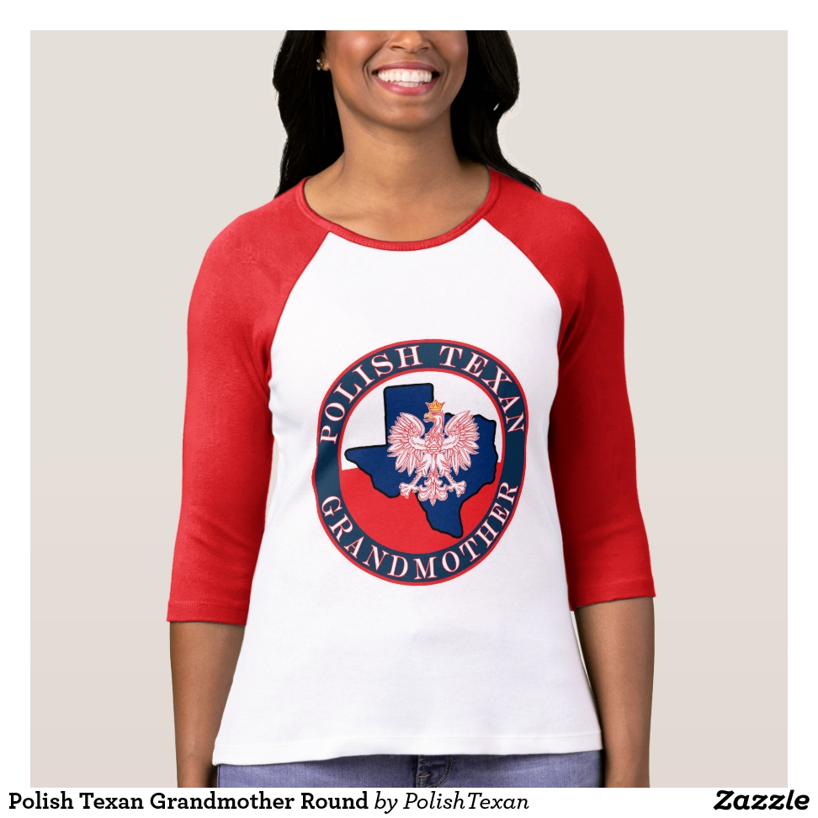 Polish Texan Grandmother Round T-Shirt - Best Selling Long-Sleeve Street Fashion Shirt Designs