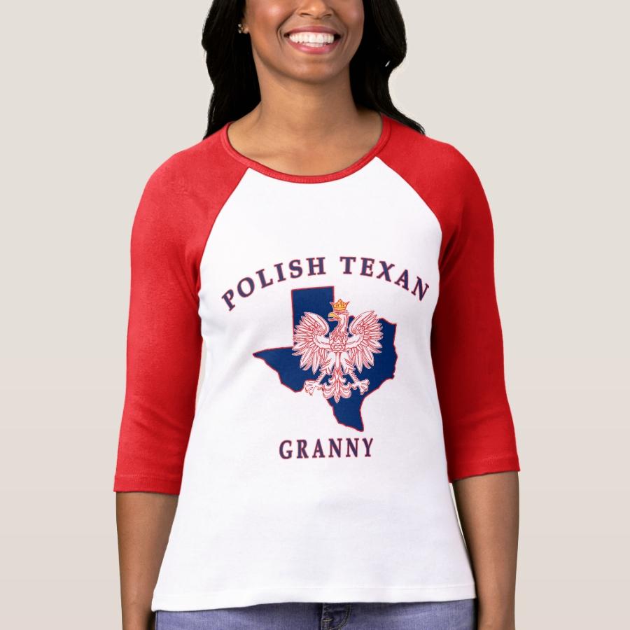 Polish Texan Granny T-Shirt - Best Selling Long-Sleeve Street Fashion Shirt Designs