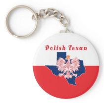 Polish Texan With Texas Map Keychain