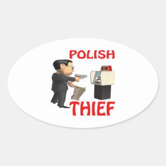 Polish Thief Oval Sticker