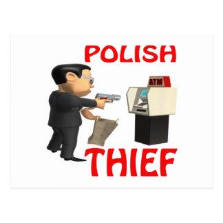 Polish Thief Postcard