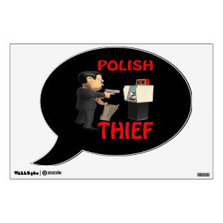 Polish Thief Wall Decal
