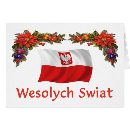 Polish Wesolych Swiat Card
