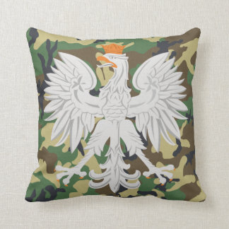 Polish White Eagle Camouflage  MoJo Pillow