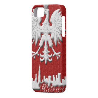 Polish White Eagle Chicago Skyline iPhone 5 Case-M iPhone SE/5/5s Case