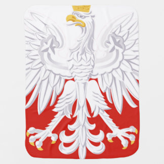 Polish White Eagle Flag Stroller Blanket