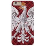 Polish White Eagle Plaid Barely There iPhone 6 Plus Case