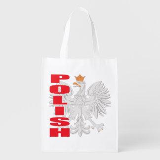Polish White Eagle Reusable Grocery Bag