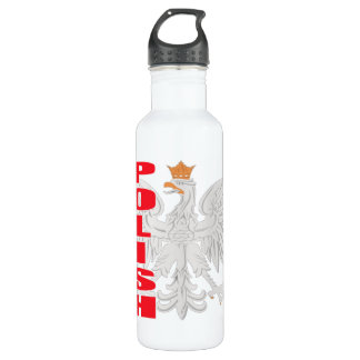 Polish White Eagle Stainless Steel Water Bottle