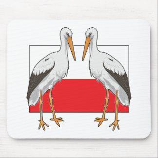 Polish White Stork Mouse Pad