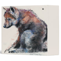 Polish Wolf Pup 2001 3 Ring Binder