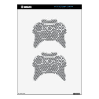 Polished Aluminum Hardcore Plate Xbox 360 Controller Decal