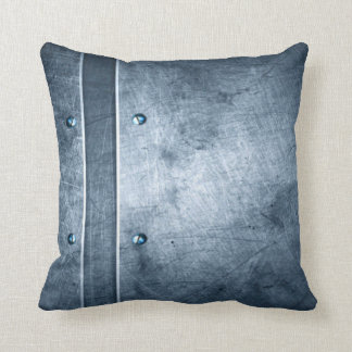Polished Armor Plating Grunge Throw Pillow