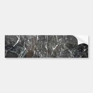 Polished black marble car bumper sticker