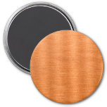Polished Copper Wavy Texture Background Refrigerator Magnet