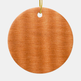 Polished Copper Wavy Texture Background Double-Sided Ceramic Round Christmas Ornament