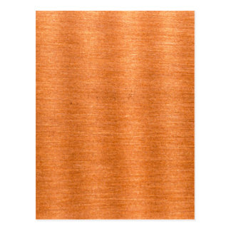 Polished Copper Wavy Texture Background Postcard