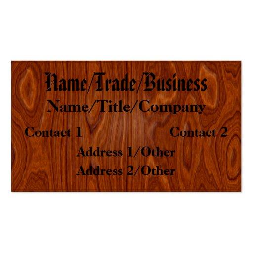 Polished Hardwood Business Card