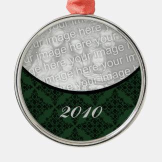 Polished Holiday Damask Premium Round Ornament