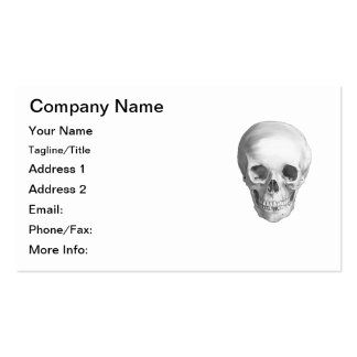 Polished Human Skull Front View Business Card