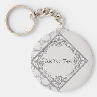 Polished Medallion Keychain