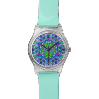 Polished Pebble Blue Mosaic Wristwatch