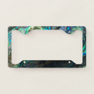 Polished Shell License Plate Frame